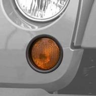 Rugged Ridge Jeep JK Turn Signal Lamp Trim Black or Chrome