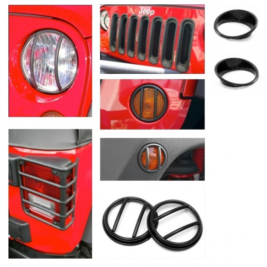 Rugged Ridge Jeep JK Euro Guard Set (19 PC) Black or Stainless
