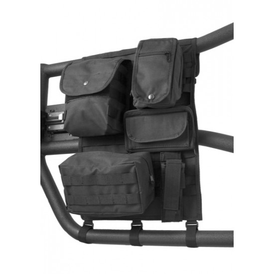 Rugged Ridge Molle Pal Tube Door Cargo Cover with Storage Bags