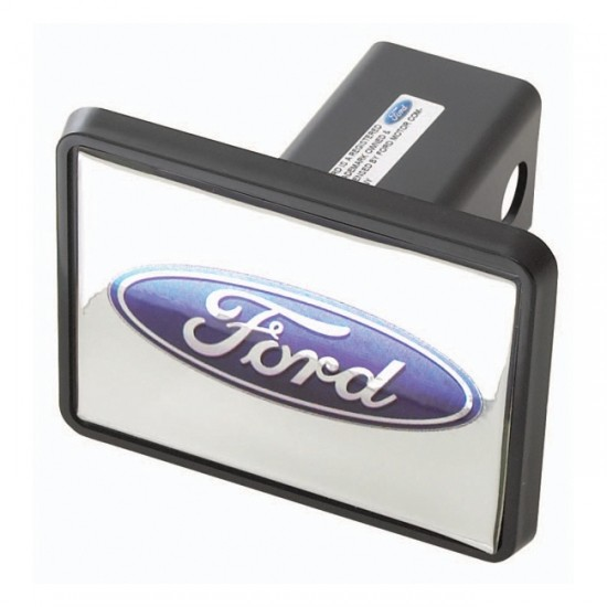 Rugged Ridge Trailer Hitch Receiver Plastic Cover w/ Ford Logo