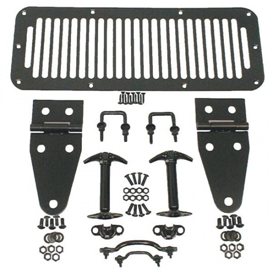 Rugged Ridge Jeep YJ, CJ 78-95 Hood Kits (Black or Stainless)