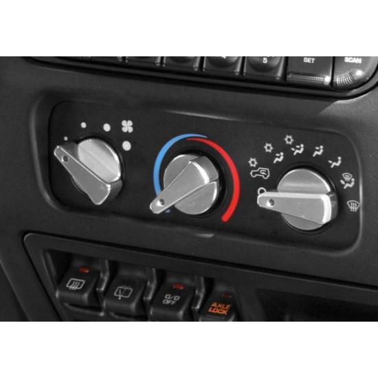 Rugged Ridge Jeep Wrangler TJ/LJ 99-06 Climate Control Knob Set Blue or Red