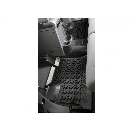 Rugged Ridge Jeep Wrangler JK 07-14 4DR Rear Floor Liner (Black, Tan or Gray)