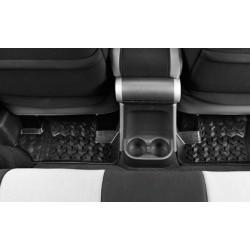 Rugged Ridge Jeep Wrangler JK 07-14 2DR Rear Floor Liners (Black, Tan, Gray)