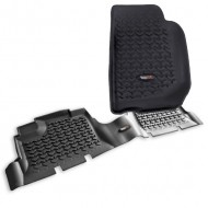Rugged Ridge Jeep Wrangler JK 07-13 4DR Floor Liner Kit (Black, Tan or Gray)