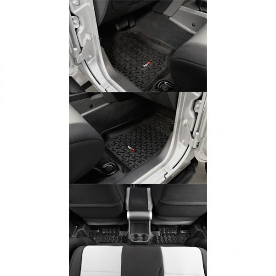 Rugged Ridge Jeep Wrangler JK 07-13 2DR Floor Liner Kit (Black, Tan or Gray)