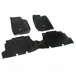 Rugged Ridge Jeep Wrangler JK 14-Up 4DR Floor Liner Kit (Black, Tan or Gray)