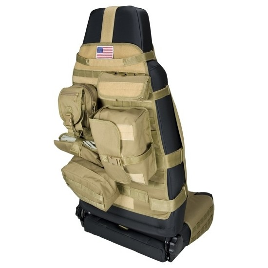 Rugged Ridge Front Bucket Seat Molle Pals System Cargo Seat Cover