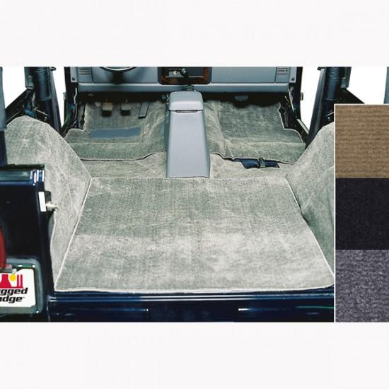 Rugged Ridge Jeep YJ, CJ7 76-95 Deluxe Carpet Kit Black Gray Honey
