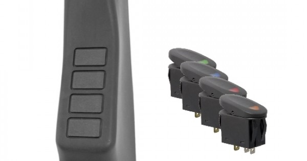 Rugged Ridge 17235.97 Black Right Side A-Pillar 4-Switch Pod Kit