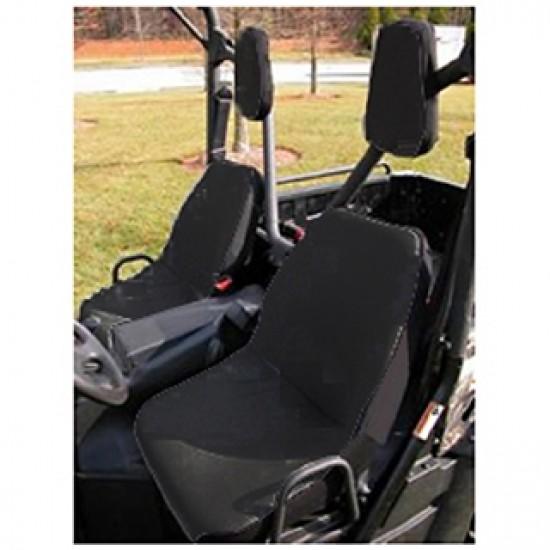 Rugged Ridge UTV Fabric Seat Cover w/ Headrest Pair (Black)