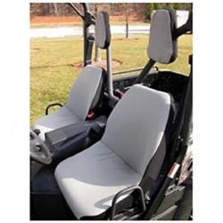 Rugged Ridge UTV Fabric Seat Cover w/ Headrest Pair (Gray)
