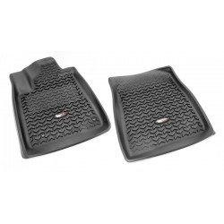 Rugged Ridge Tundra, Sequoia 07-11 Front Floor Liners (Black Tan Gray)