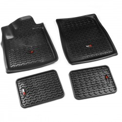 Rugged Ridge Tundra, Sequoia 07-11 Front / Rear Floor Liners (Black)