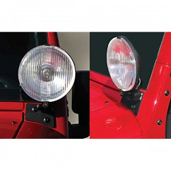 Rugged Ridge Jeep JK 07-15 Windshield Light Brackets (Black or Stainless)