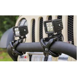 "Rugged Ridge X-Clamp 2.25""-3.00"" Inch Tube Mounting System Black"