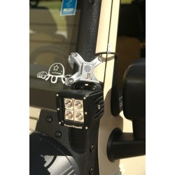 """Rugged Ridge X-Clamp 1.25""""-2.00"""" Inch Tube Mounting System Silver"""