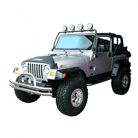 Rugged Ridge Jeep Wrangler TJ/LJ 97-06 Windshield Mounted Light Bar Black