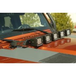 Rugged Ridge Jeep Wrangler JK 07-Up Hood Mounted LED Light Bar (Gloss Black)