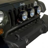 Rugged Ridge Jeep Wrangler JK 07-Up Bumper Mounted Light Bar Black or Stainless