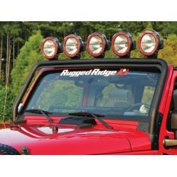 Rugged Ridge Jeep Wrangler JK 07-Up Windshield Frame Mounted Light Bar