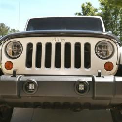 Rugged Ridge Jeep Wrangler JK 07-15 Square LED Fog Light Mount Brackets