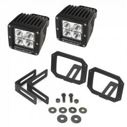 Rugged Ridge Jeep Wrangler JK 07-15 Square LED Fog Light Mount Kit