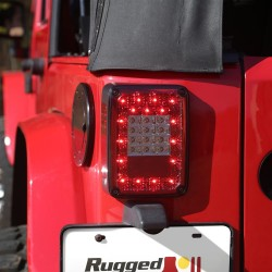 Rugged Ridge Jeep Wrangler JK 07-Up LED Tail Light Pair with Smoked Lens