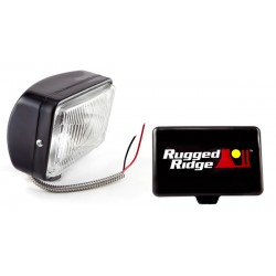 Rugged Ridge 5x7-Inch Off Road Light Black 100W