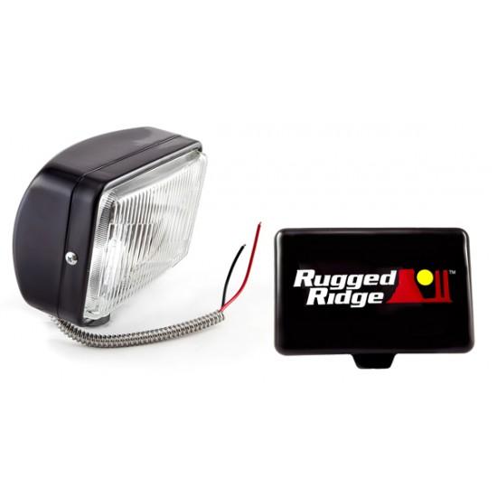 Rugged Ridge 5x7-Inch Off Road Light Black 100W
