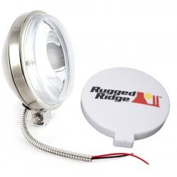 Rugged Ridge 6-Inch Slim Off Road Light - Stainless 100W