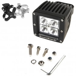 "Rugged Ridge LED Light 16 Watt Square 3"" w/ Black 2.25""-3.00"" X-Clamp"
