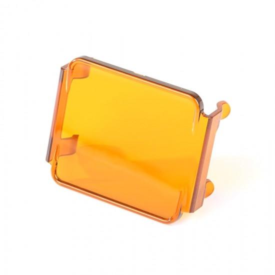 Rugged Ridge LED Light Cover 3-Inch Transparent Amber Fits 15209.03