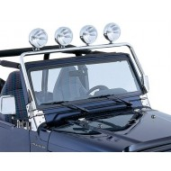 Rugged Ridge Jeep Wrangler TJ/LJ 97-06 Windshield Mounted Light Bar Stainless