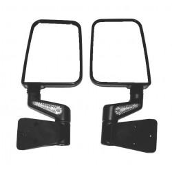 Rugged Ridge Jeep TJ, YJ 87-02 Heated Mirror w/ LED Pair Black