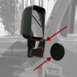 Rugged Ridge Jeep JK Mirror Relocation Brackets (Black or Stainless)