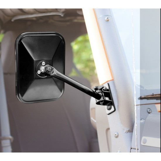 Rugged Ridge Jeep Wrangler JK, TJ/LJ Quick Release Retangular Mirror