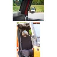 Rugged Ridge Jeep Wrangler JK, TJ/LJ Quick Release Mirror (Black, Stainless)
