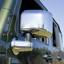 Rugged Ridge Jeep JK 07-Up Chrome Mirror and Arm Covers