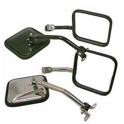 Rugged Ridge Jeep TJ/LJ 97-06 Mirror Kit CJ Style (Black or Stainless)