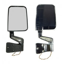 Rugged Ridge Jeep TJ/YJ 87-02 LED Mirror Pair Black or Chrome