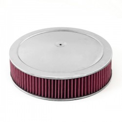 """Rugged Ridge Synthetic Air Cleaner Assembly 14"""" - Most 4 Barrel Carbs"""