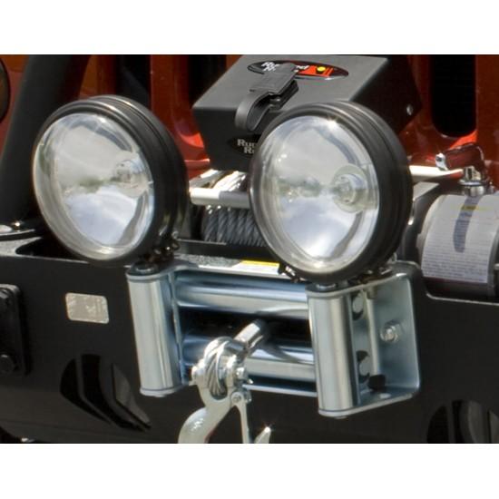 Rugged Ridge Winch Roller Fairlead w/ Light Mounting Holes