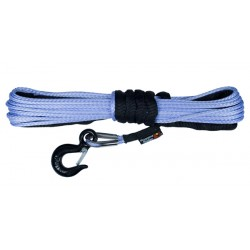 "Rugged Ridge Synthetic Winch Rope UTV 1/4"" x 50ft 8,400lbs"