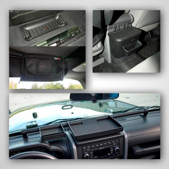 Rugged Ridge Jeep JK 07-10 Interior Storage Kit 4-PC