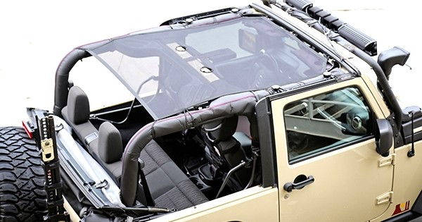 Rugged Ridge Jeep Jk 07 Up 2dr Black Eclipse Sun Shade