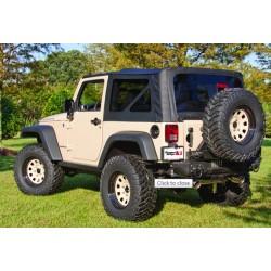 Rugged Ridge Jeep Wrangler JK 07-09 2-DR Replacement Soft Top w/Tint