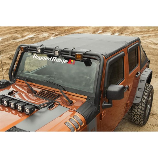 Rugged Ridge Jeep Wrangler JK 07-Up 4-DR Bowless Soft Top