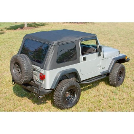 Rugged Ridge Jeep TJ 97-06 Bowless XHD Soft Top w/ Door Surrounds
