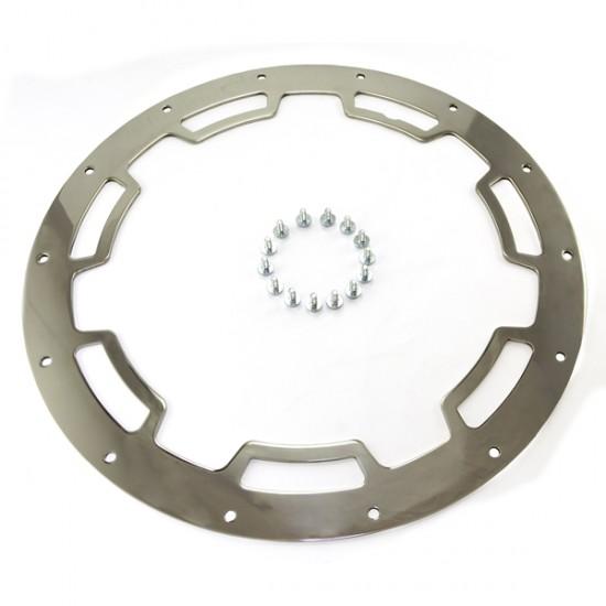 Rugged Ridge 17x9 Wheel Rim Protector Polished Stainless Steel